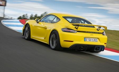 2020 Porsche 718 Cayman GT4 (Color: Racing Yellow) Rear Three-Quarter Wallpapers 450x275 (68)
