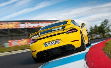 2020 Porsche 718 Cayman GT4 (Color: Racing Yellow) Rear Wallpapers 450x275 (71)