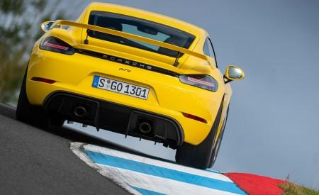 2020 Porsche 718 Cayman GT4 (Color: Racing Yellow) Rear Wallpapers 450x275 (72)