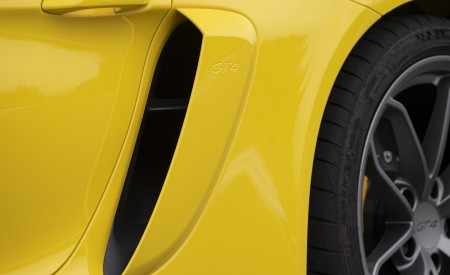 2020 Porsche 718 Cayman GT4 (Color: Racing Yellow) Side Vent Wallpapers 450x275 (76)