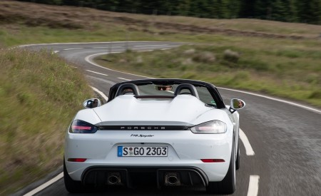 2020 Porsche 718 Spyder (Color: Carrara White Metallic) Rear Wallpapers 450x275 (111)