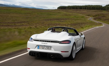 2020 Porsche 718 Spyder (Color: Carrara White Metallic) Rear Wallpapers 450x275 (116)