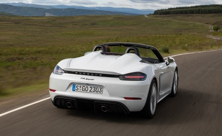 2020 Porsche 718 Spyder (Color: Carrara White Metallic) Rear Wallpapers 450x275 (117)