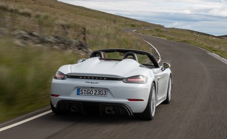 2020 Porsche 718 Spyder (Color: Carrara White Metallic) Rear Wallpapers 450x275 (118)