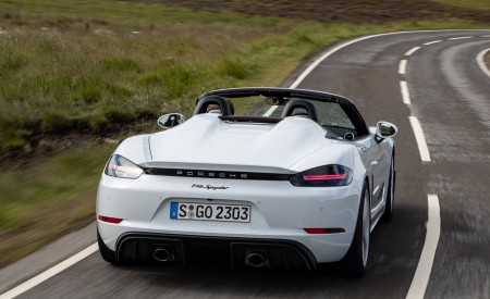 2020 Porsche 718 Spyder (Color: Carrara White Metallic) Rear Wallpapers 450x275 (102)