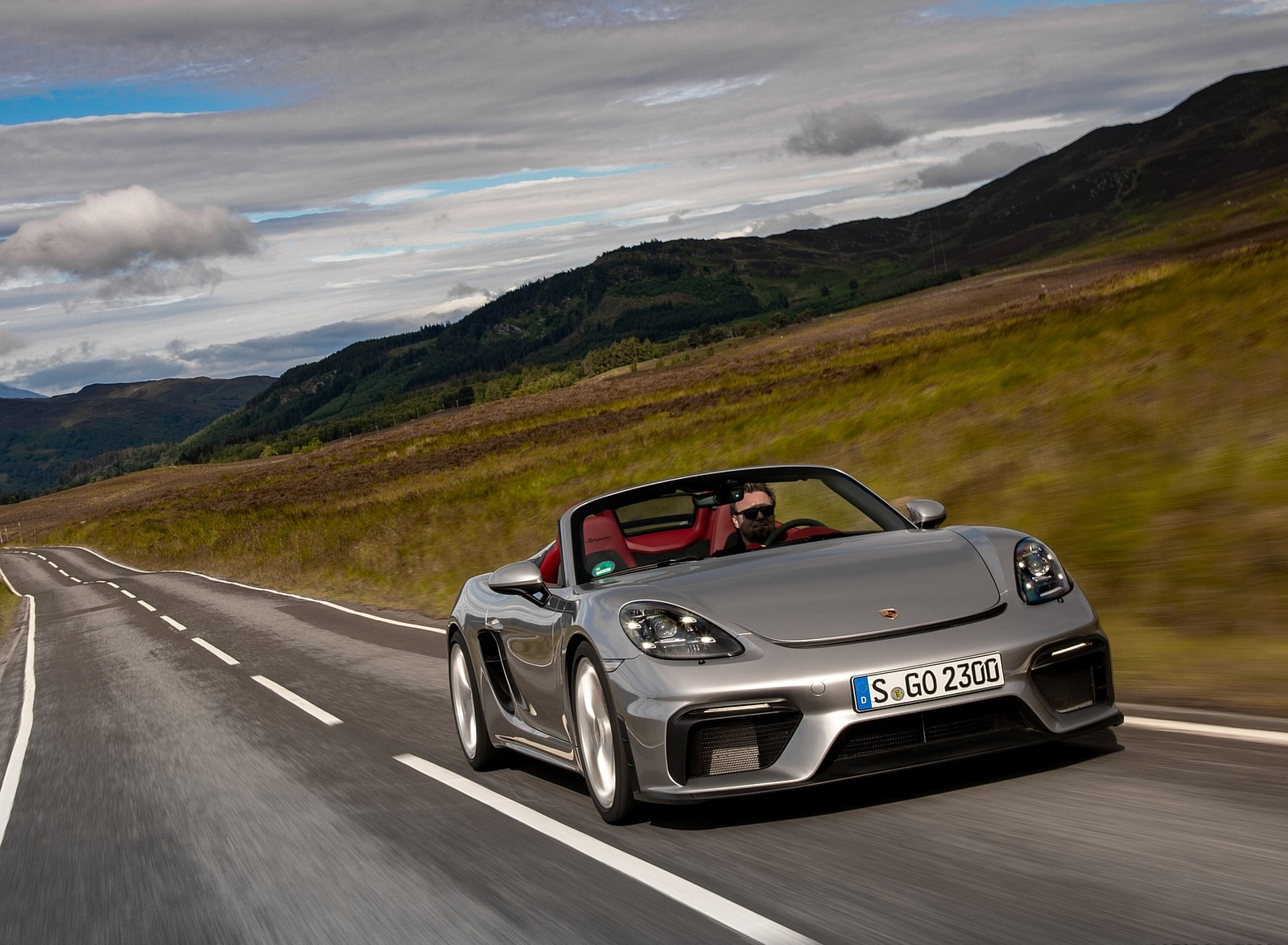2020 Porsche 718 Spyder Color Gt Silver Metallic Front Wallpapers 190 Newcarcars
