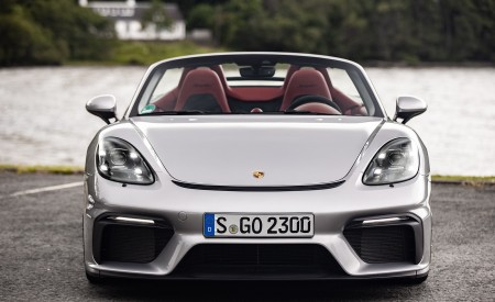 2020 Porsche 718 Spyder (Color: GT Silver Metallic) Front Wallpapers 450x275 (207)