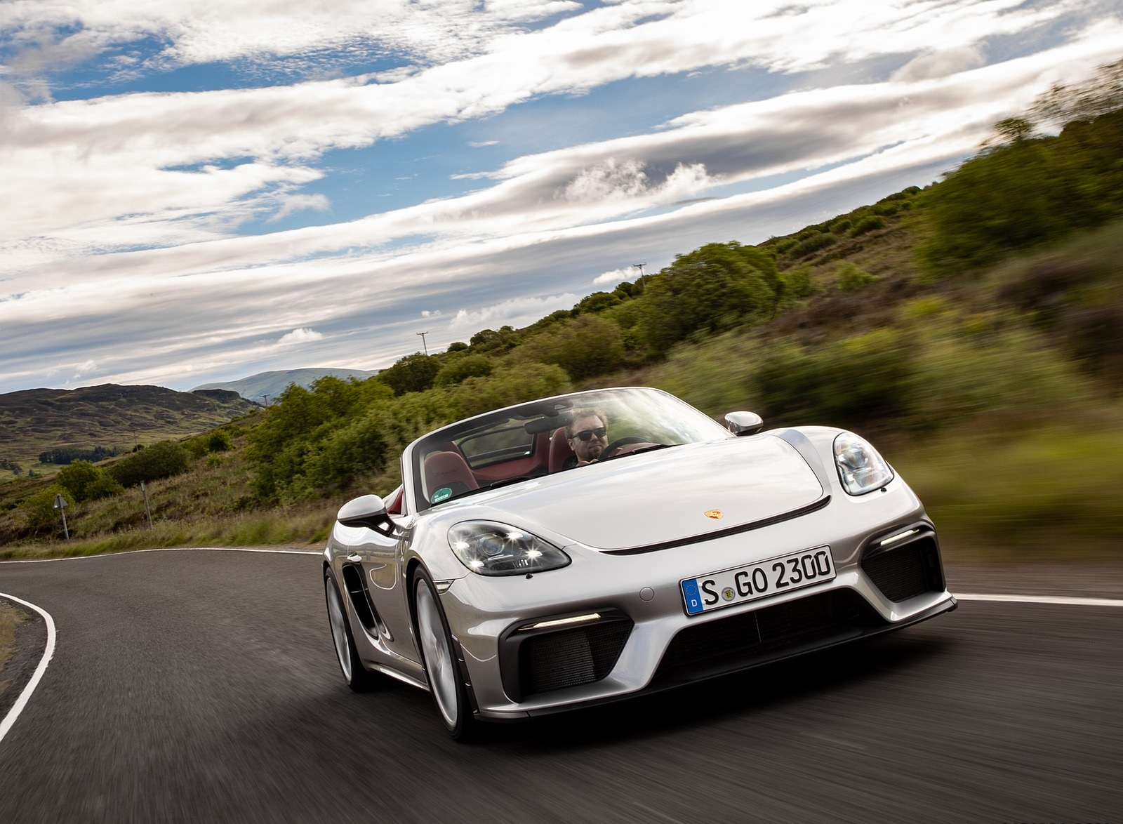 2020 Porsche 718 Spyder Color Gt Silver Metallic Front Wallpapers 167 Newcarcars