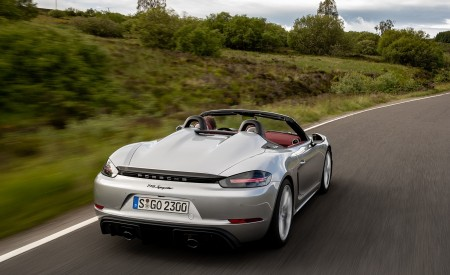 2020 Porsche 718 Spyder (Color: GT Silver Metallic) Rear Three-Quarter Wallpapers 450x275 (178)