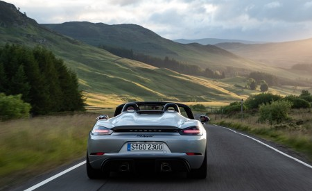 2020 Porsche 718 Spyder (Color: GT Silver Metallic) Rear Wallpapers 450x275 (202)