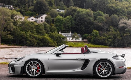 2020 Porsche 718 Spyder (Color: GT Silver Metallic) Side Wallpapers 450x275 (215)
