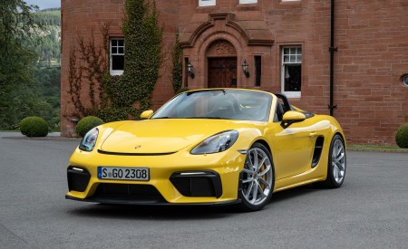 2020 Porsche 718 Spyder (Color: Racing Yellow) Front Three-Quarter Wallpapers 450x275 (49)