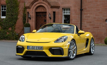 2020 Porsche 718 Spyder (Color: Racing Yellow) Front Wallpapers 450x275 (50)