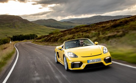 2020 Porsche 718 Spyder (Color: Racing Yellow) Front Wallpapers 450x275 (36)
