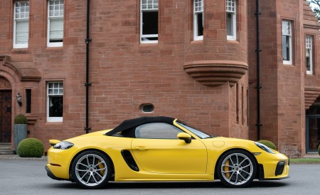 2020 Porsche 718 Spyder (Color: Racing Yellow) Side Wallpapers 450x275 (54)