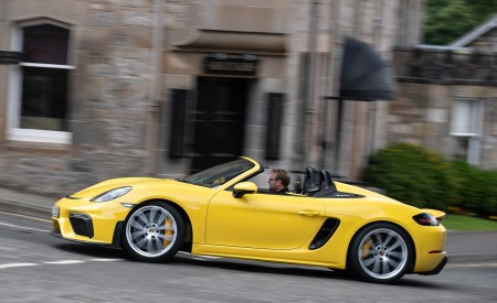 2020 Porsche 718 Spyder (Color: Racing Yellow) Side Wallpapers 450x275 (39)
