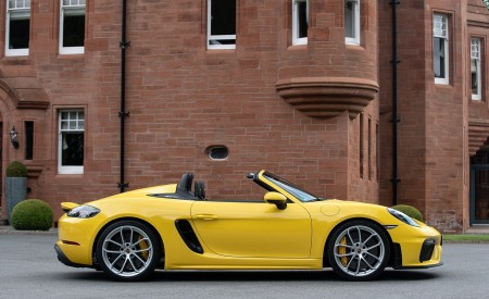 2020 Porsche 718 Spyder (Color: Racing Yellow) Side Wallpapers 450x275 (55)
