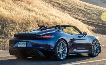 2020 Porsche 718 Spyder Rear Three-Quarter Wallpapers 450x275 (7)
