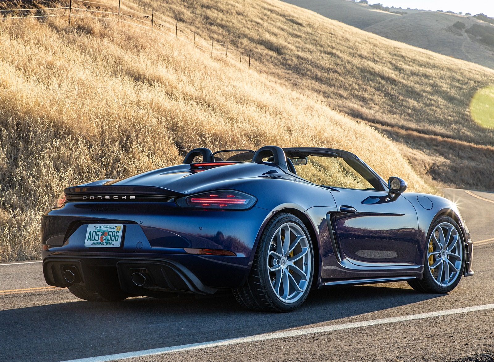 2020 Porsche 718 Spyder Rear Three-Quarter Wallpapers (7)