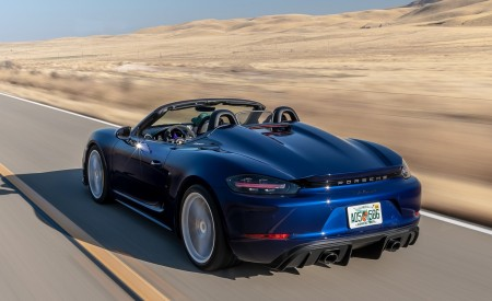 2020 Porsche 718 Spyder Rear Three-Quarter Wallpapers 450x275 (4)