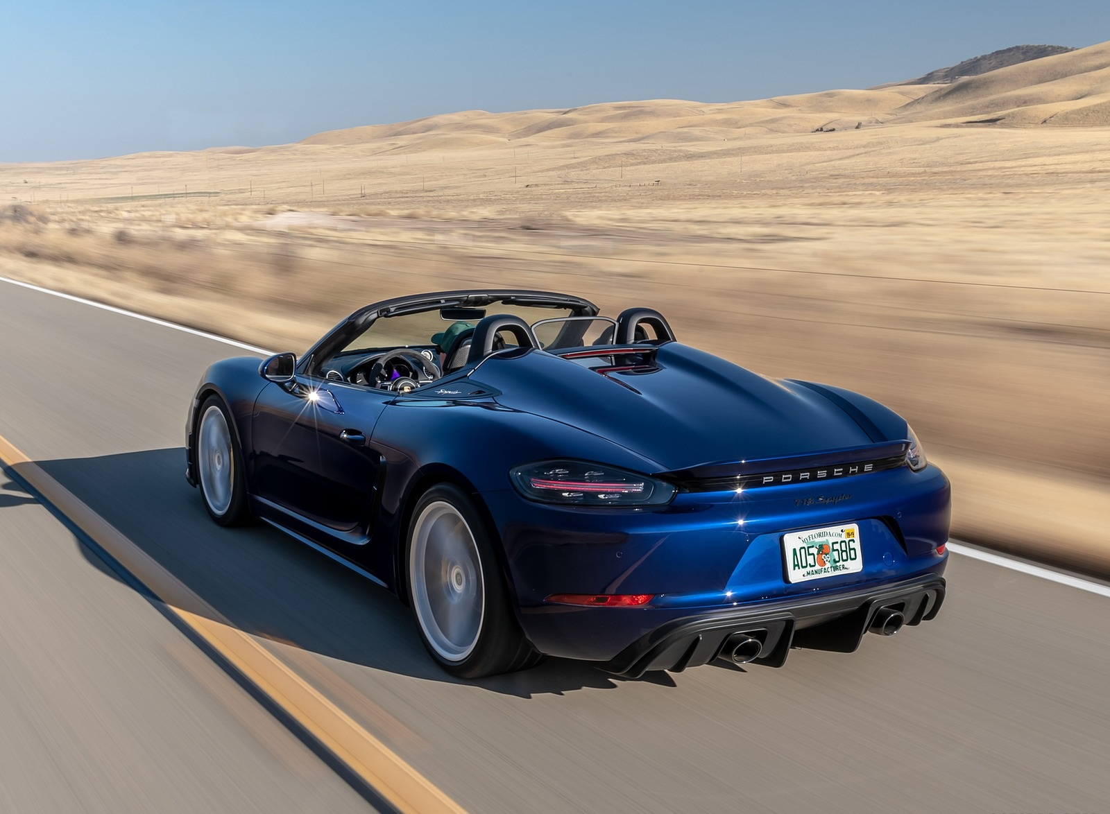 2020 Porsche 718 Spyder Rear Three-Quarter Wallpapers (4)
