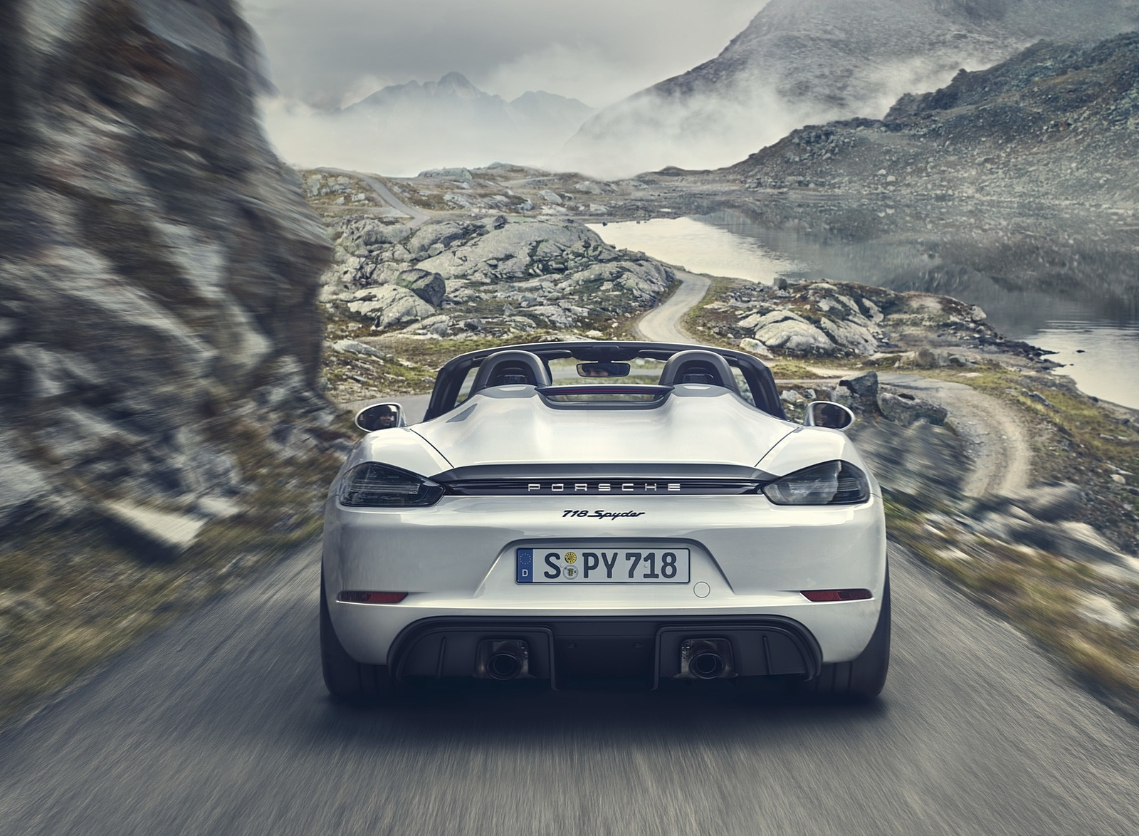 2020 Porsche 718 Spyder Rear Wallpapers (4)