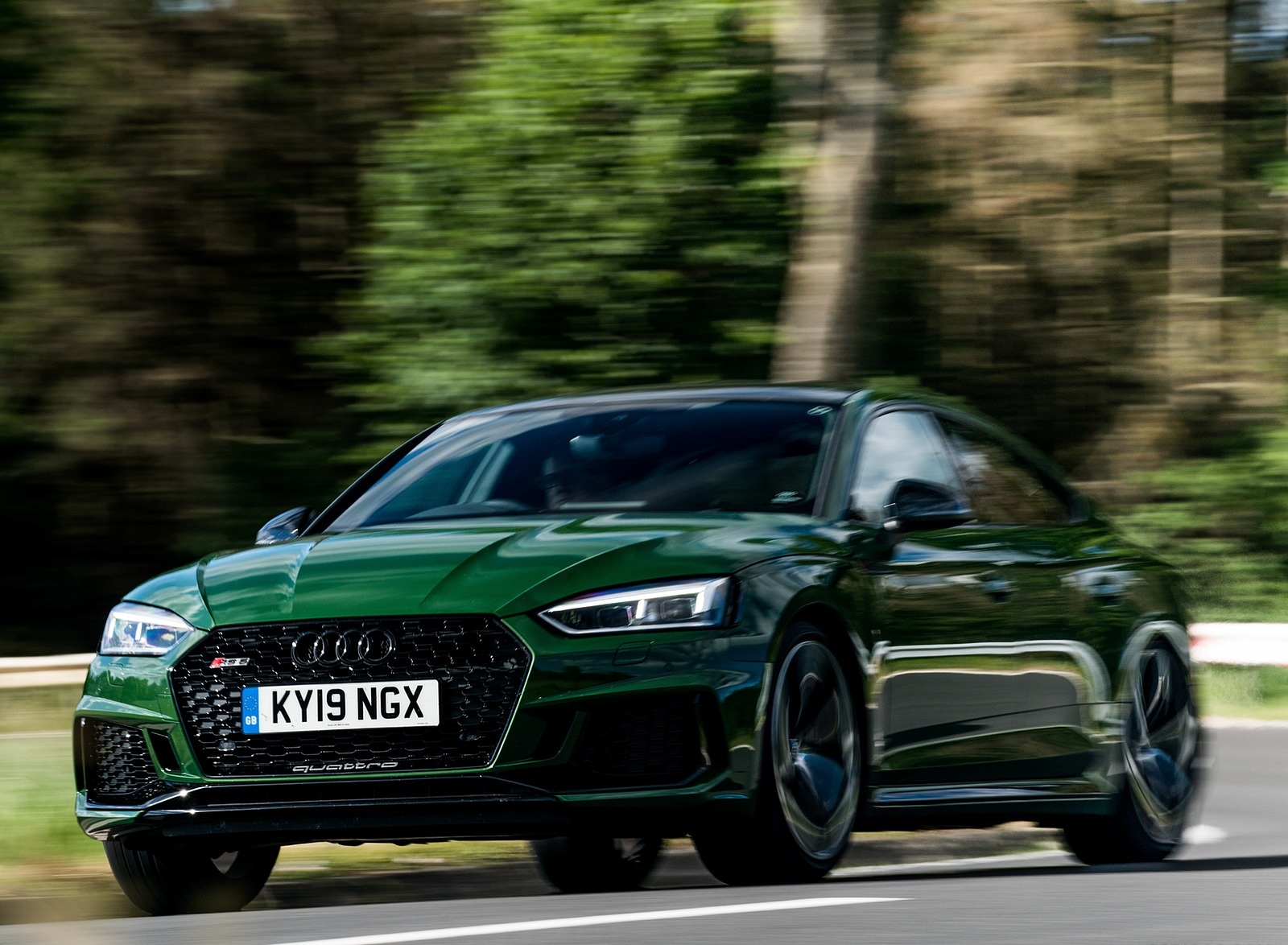 2019 Audi RS 5 Sportback (UK-Spec) Front Three-Quarter Wallpapers (13)