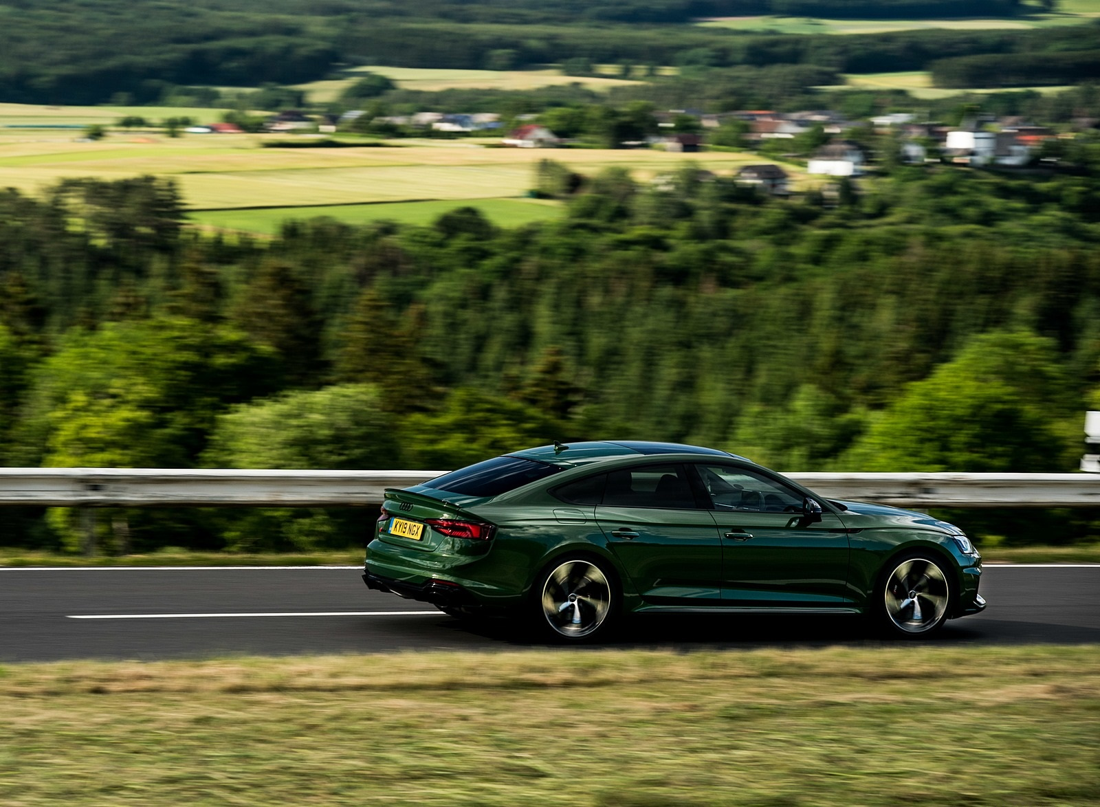 2019 Audi RS 5 Sportback (UK-Spec) Rear Three-Quarter Wallpapers (6)