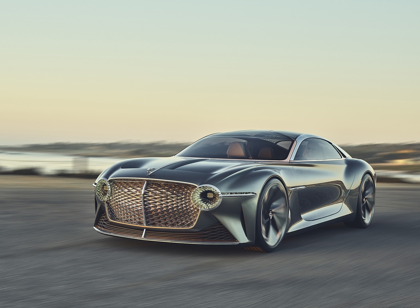 2019 Bentley EXP 100 GT Concept Front Three-Quarter Wallpapers (1)