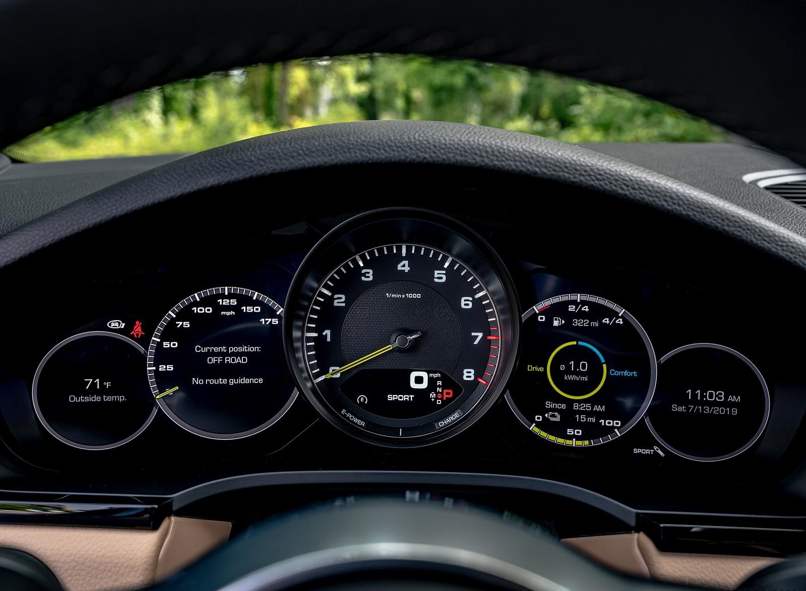 2019 Porsche Cayenne E-Hybrid (US-Spec) Digital Instrument Cluster Wallpapers #35 of 37