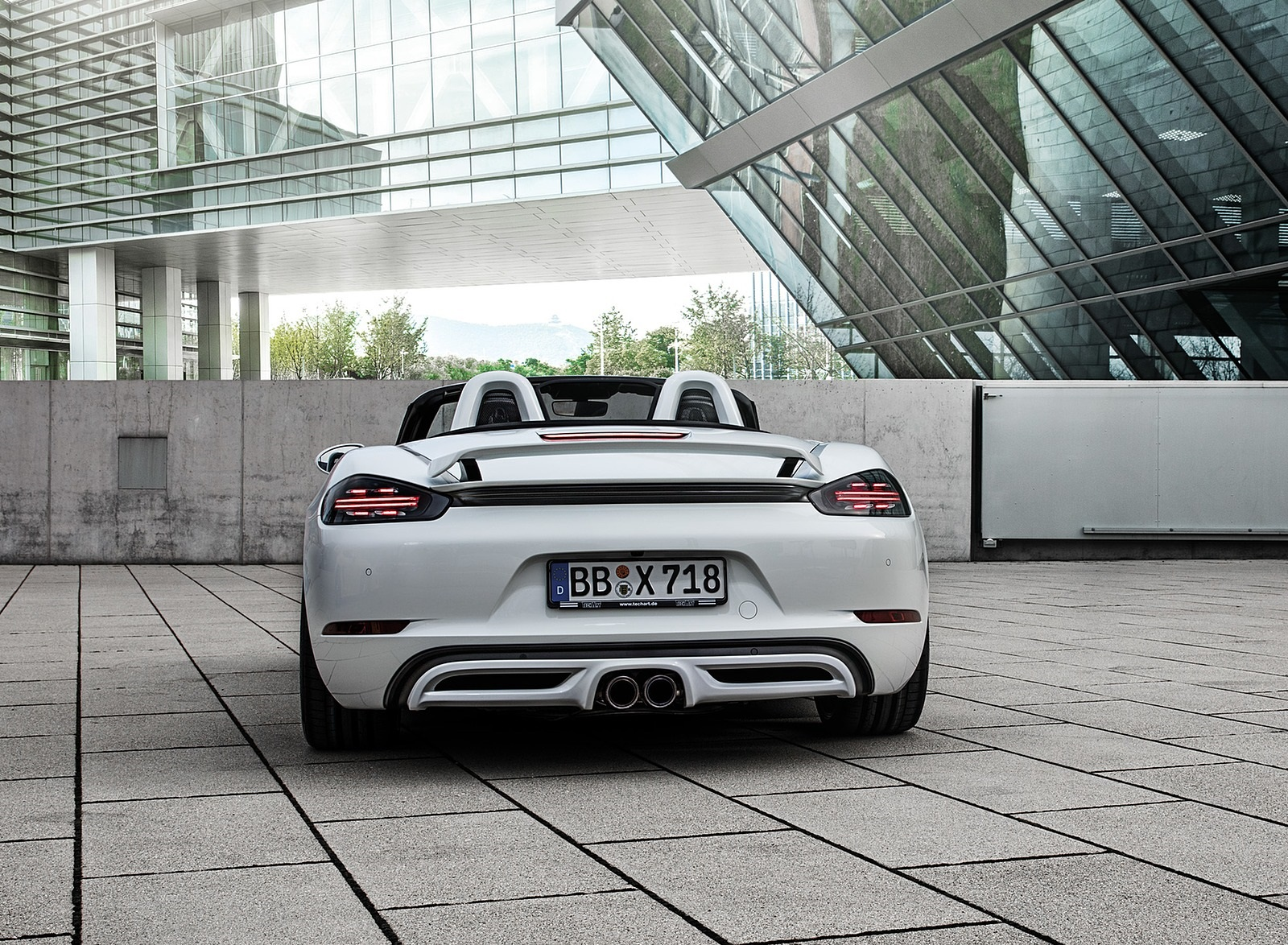 2019 TECHART Porsche 718 Boxster Rear Wallpapers (10)