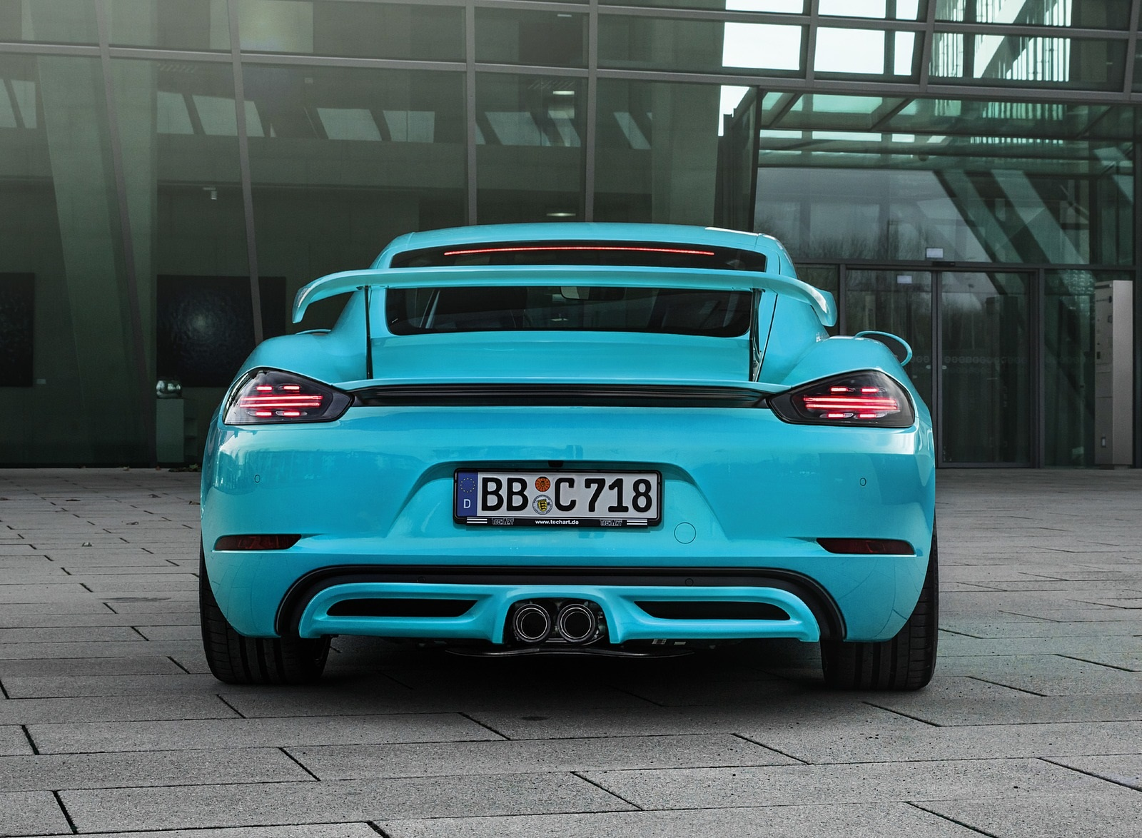 2019 TECHART Porsche 718 Cayman Rear Wallpapers (3)
