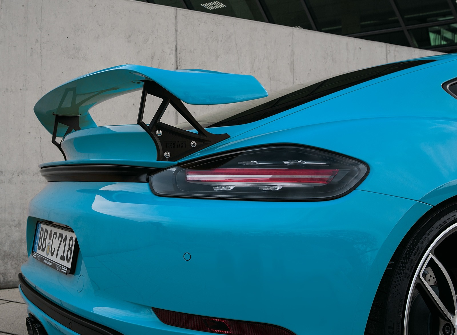2019 TECHART Porsche 718 Cayman Spoiler Wallpapers (5)