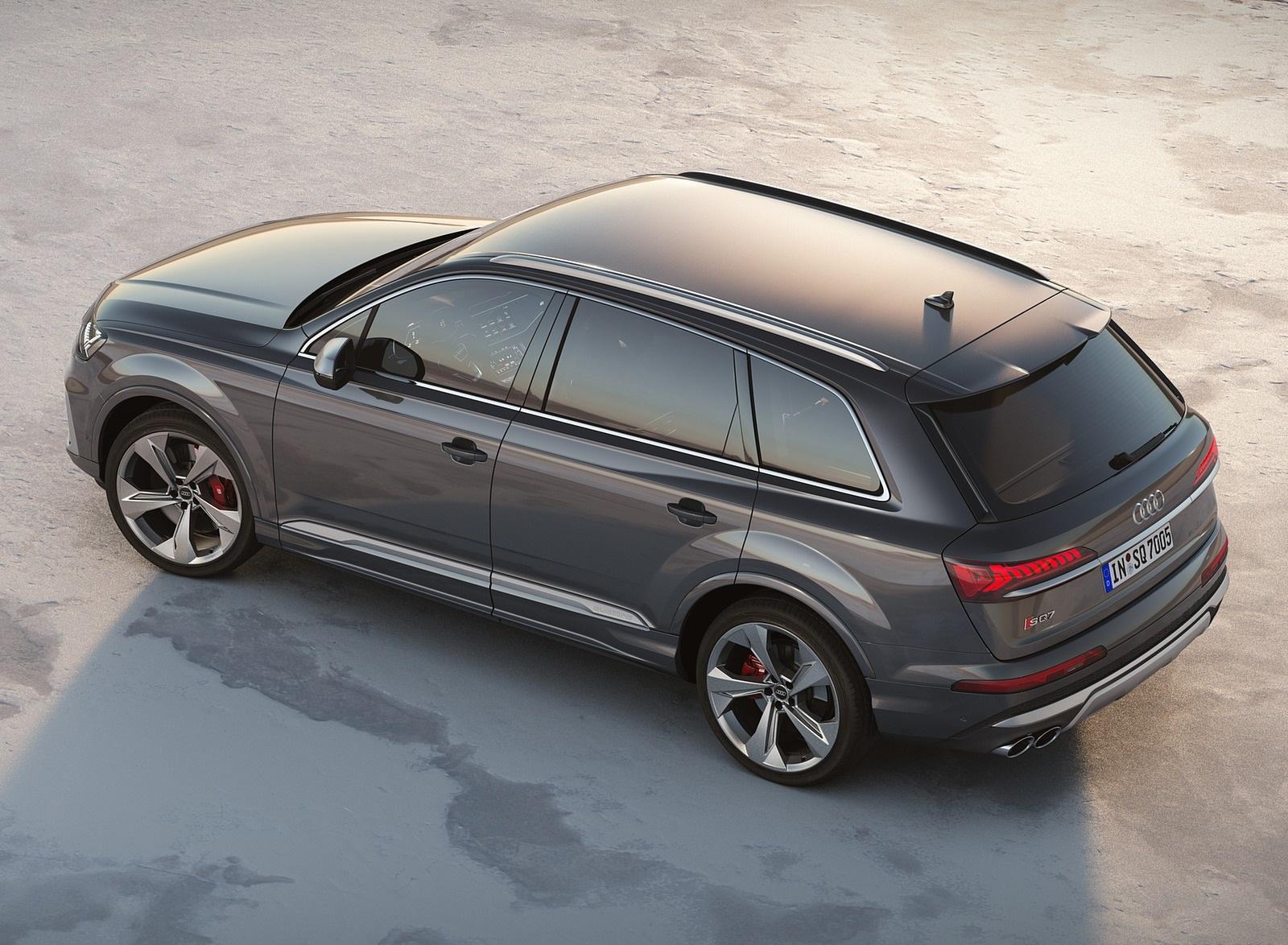 2020 Audi SQ7 TDI (Color: Daytona Gray) Rear Three-Quarter Wallpapers (8)