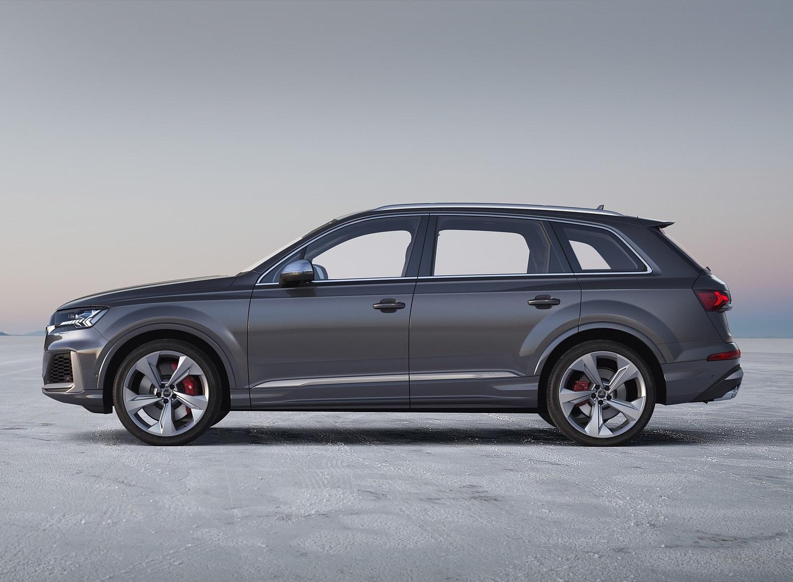 2020 Audi SQ7 TDI (Color: Daytona Gray) Side Wallpapers (10)