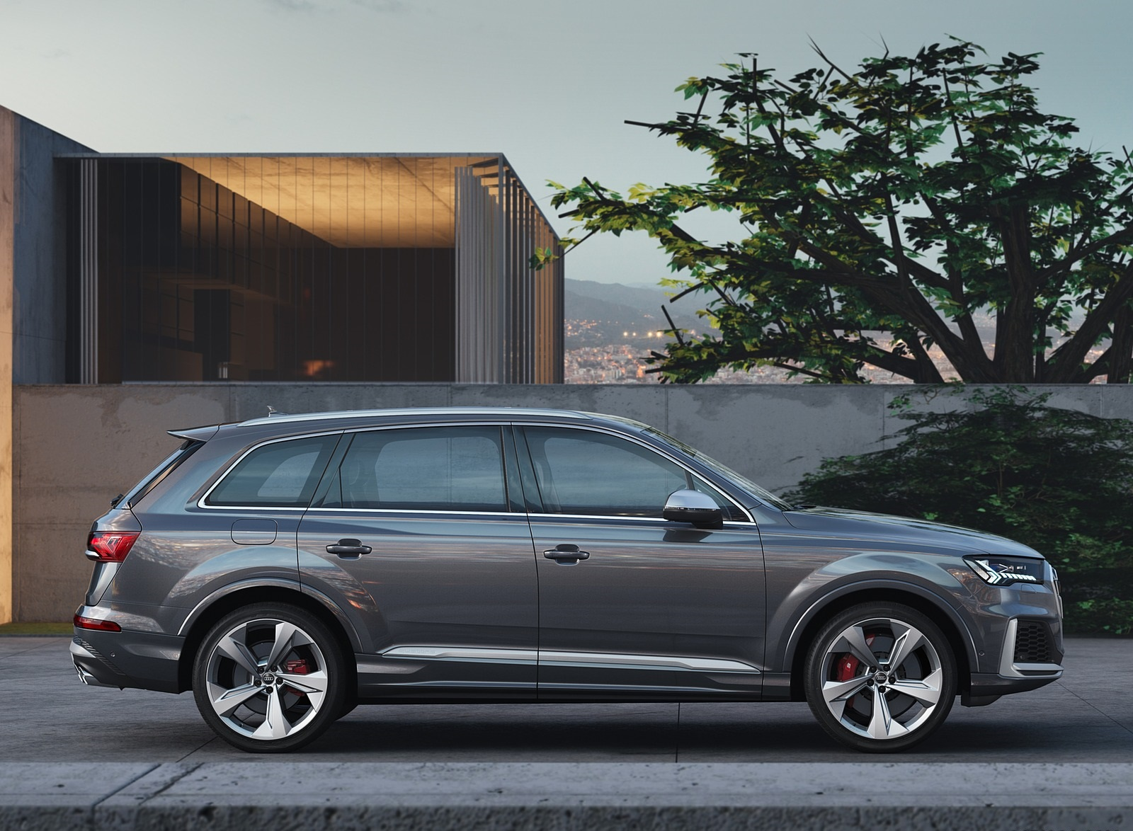 2020 Audi SQ7 TDI (Color: Daytona Gray) Side Wallpapers (11)