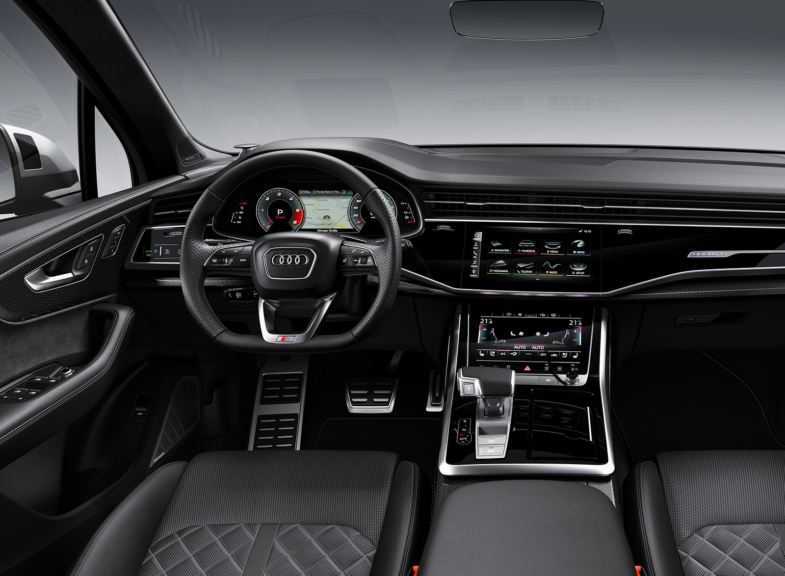 2020 Audi SQ7 TDI Interior Cockpit Wallpapers (14)