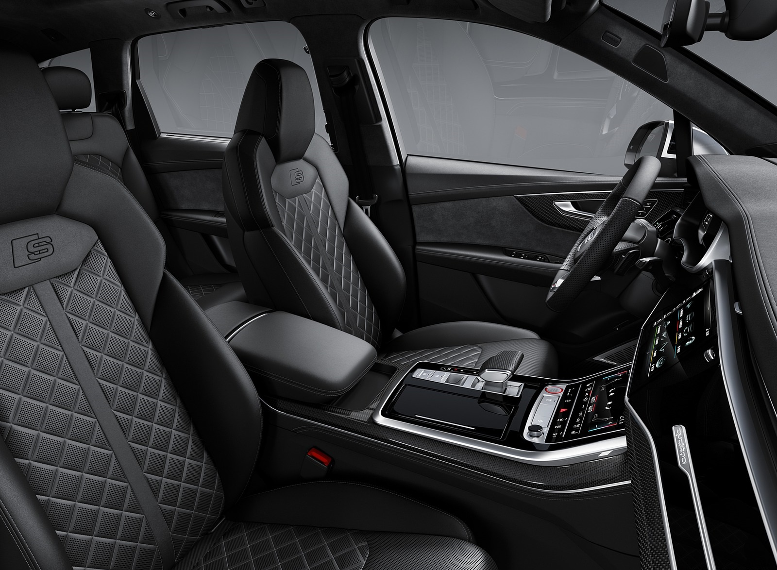 2020 Audi SQ7 TDI Interior Front Seats Wallpapers (12)