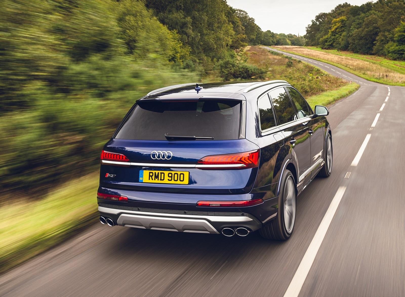 2020 Audi SQ7 TDI Vorsprung (UK-Spec) Rear Three-Quarter Wallpapers (13)