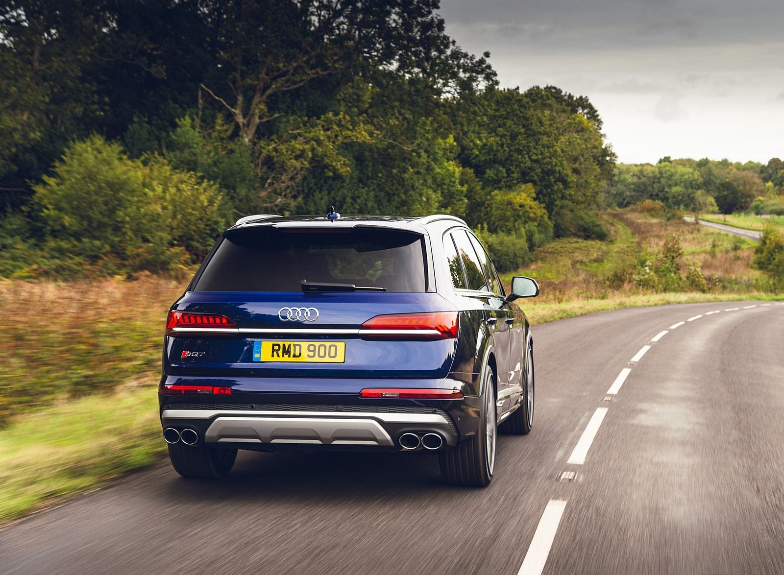 2020 Audi SQ7 TDI Vorsprung (UK-Spec) Rear Wallpapers (14)