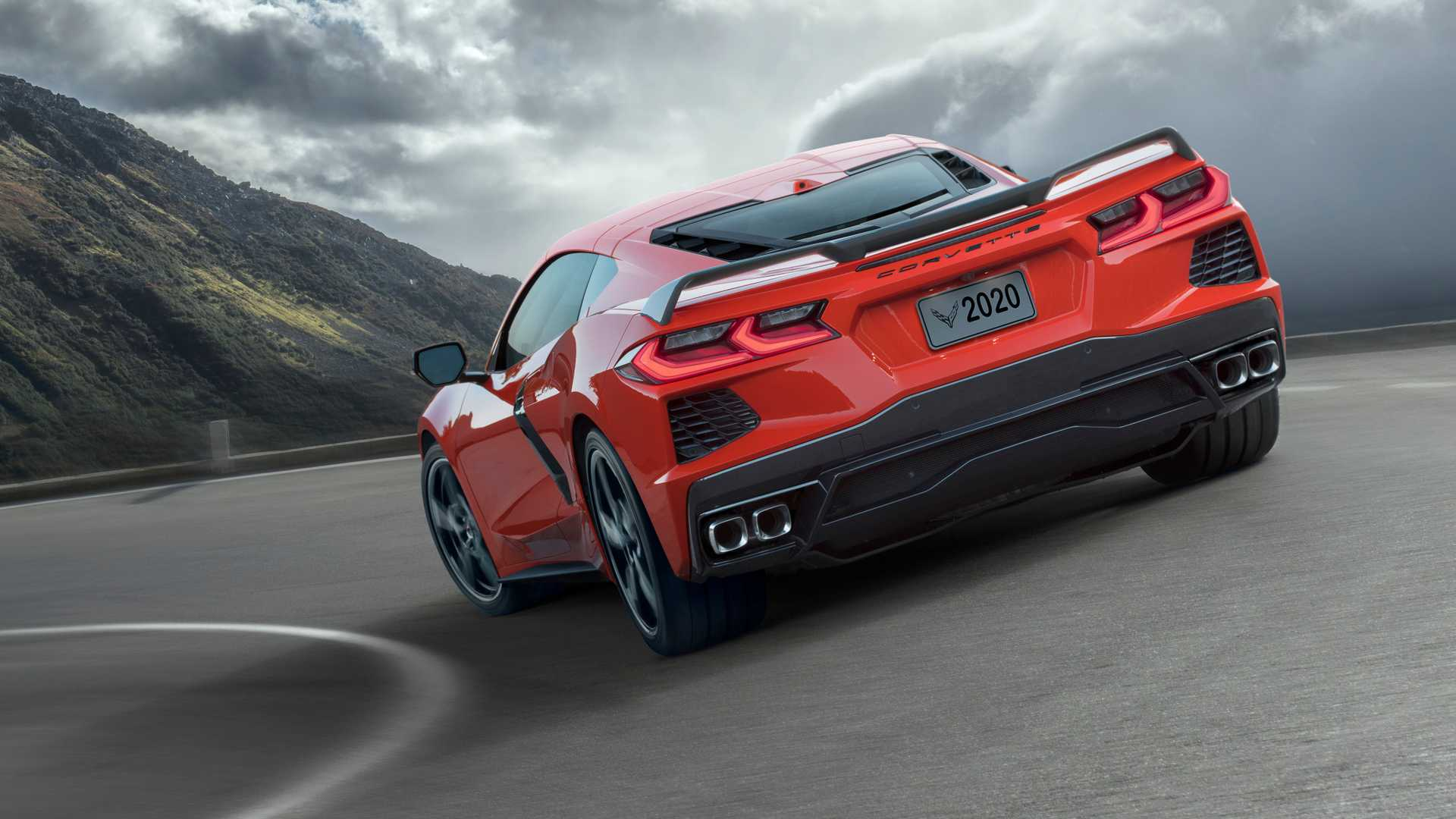 2020 Chevrolet Corvette C8 Stingray Rear Three-Quarter Wallpapers (5)