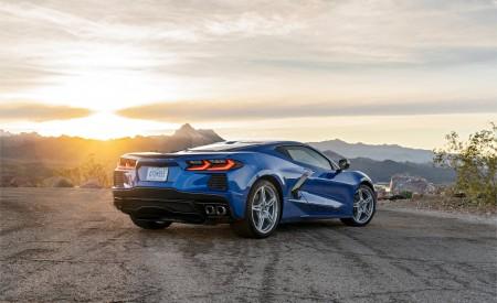 2020 Chevrolet Corvette Stingray (Color: Elkhart Lake Blue Metallic) Rear Three-Quarter Wallpapers 450x275 (54)