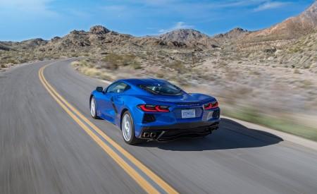 2020 Chevrolet Corvette Stingray (Color: Elkhart Lake Blue Metallic) Rear Three-Quarter Wallpapers 450x275 (49)