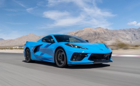2020 Chevrolet Corvette Stingray (Color: Rapid Blue) Front Three-Quarter Wallpapers 450x275 (75)