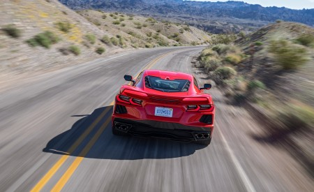 2020 Chevrolet Corvette Stingray (Color: Torch Red) Rear Wallpapers 450x275 (18)