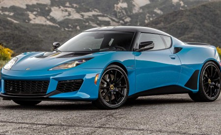 2020 Lotus Evora GT (Color: Cyan Blue) Front Three-Quarter Wallpapers 450x275 (2)