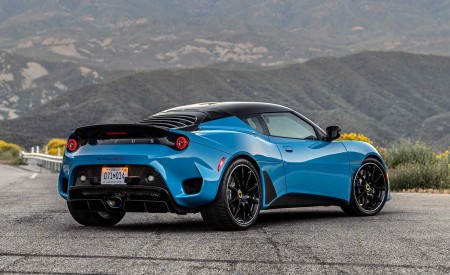 2020 Lotus Evora GT (Color: Cyan Blue) Rear Three-Quarter Wallpapers 450x275 (3)