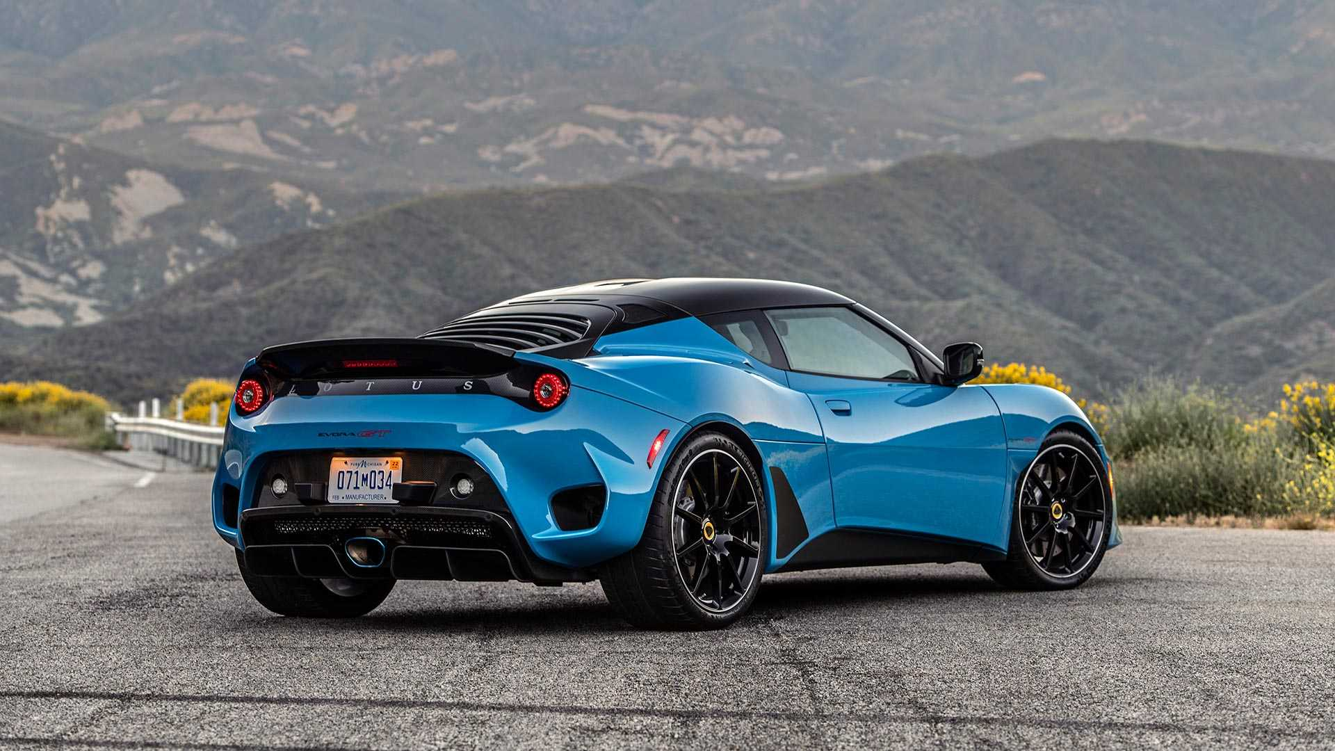 2020 Lotus Evora GT (Color: Cyan Blue) Rear Three-Quarter Wallpapers (3)