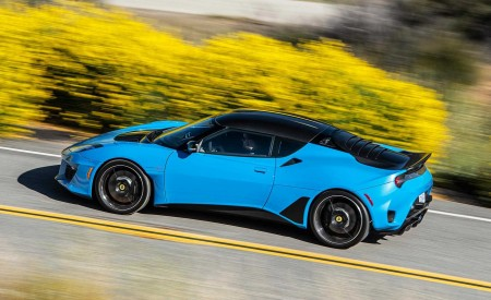 2020 Lotus Evora GT (Color: Cyan Blue) Side Wallpapers 450x275 (4)