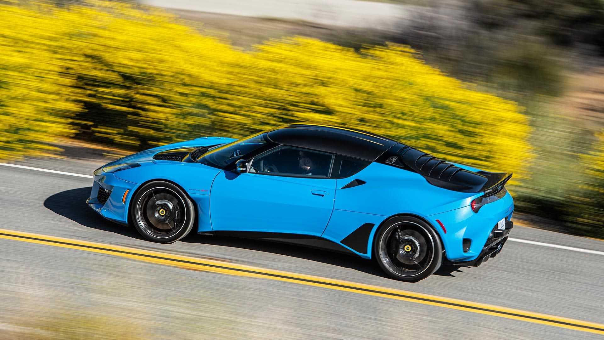 2020 Lotus Evora GT (Color: Cyan Blue) Side Wallpapers (4)